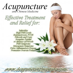 Acupuncture is a form of holistic gynecology in Aventura Florida, treating oligomenorrhea